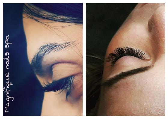 Magnifique Nails Spa eyelashes