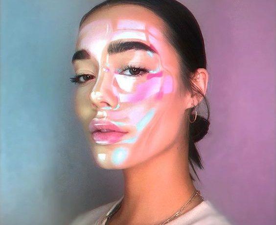 λαμπερό δέρμα